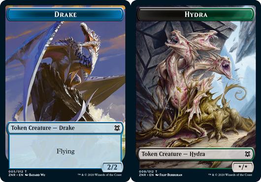 Drake Token // Hydra Token - Foil