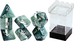 "Gate Keeper Games - ""Adamantine"" Supernova Dice - 7 Die Polyhedral Dice Set"