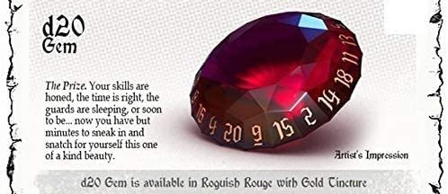 Polyhero Dice: Rogue Sets - Gem Roguish D20 Dice