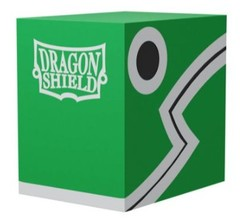 Dragon Shield Double Deck Shell Green Black