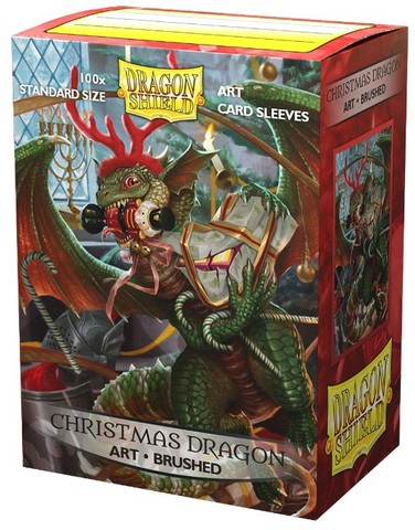 Dragon Shield - Art Brushed - Christmas Dragon 2020 100 Count Standard Sleeves