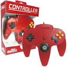 Old Skool N64 Controller Red