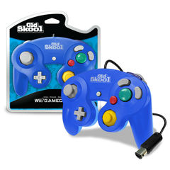 Old Skool GameCube / Wii Compatible Controller - Blue/Cyan