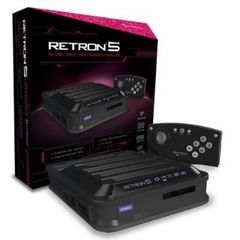 RetroN 5: HD Gaming Console for GBA/ GBC/ GB/ SNES/ NES/ Super Famicom/ Famicom/ Genesis/ Mega Drive/ Master System (Black) - Hy