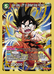 Son Goku, Off to Defeat King Piccolo - DB3-002 - SR