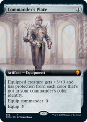 Commander's Plate - Foil - Extended Art