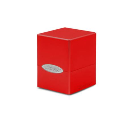 Ultra Pro Deck Box: Apple Red Satin Cube