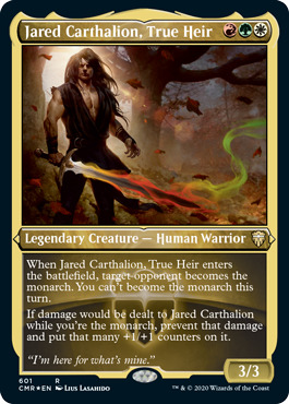 Jared Carthalion, True Heir - Foil Etched