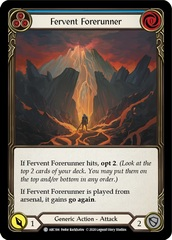Fervent Forerunner (Blue) - Rainbow Foil - Unlimited Edition