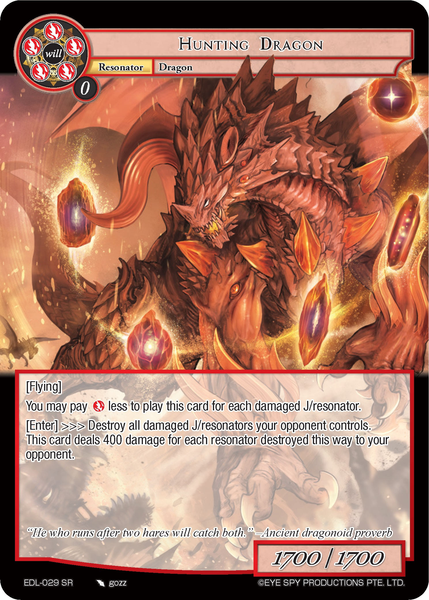 Hunting Dragon - EDL-029 - SR