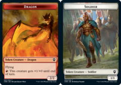 Dragon Token // Soldier Token - Foil