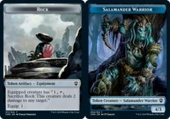 Rock Token // Salamander Warrior Token - Foil