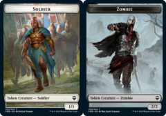 Soldier Token // Zombie Token - Foil