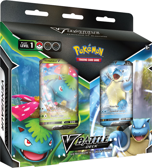 V Battle Deck - Venusaur vs. Blastoise Bundle