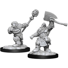 Magic: The Gathering Unpainted Miniatures: Dwarf Fighter & Cleric