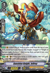 Sunshine Knight, Jeffrey - V-BT12/022EN - RR