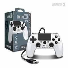 Wired Game Controller for PS4/ PC/ Mac (White) - Armor3