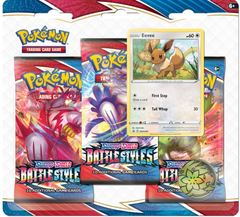 Sword & Shield - Battle Styles 3 Pack Blister - Eevee