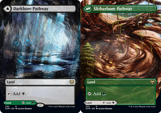 Darkbore Pathway // Slitherbore Pathway - Foil - Borderless