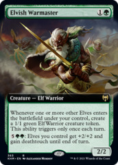 Elvish Warmaster - Extended Art