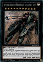 Superdreadnought Rail Cannon Juggernaut Liebe - LDS2-EN124 - Secret Rare - 1st Edition
