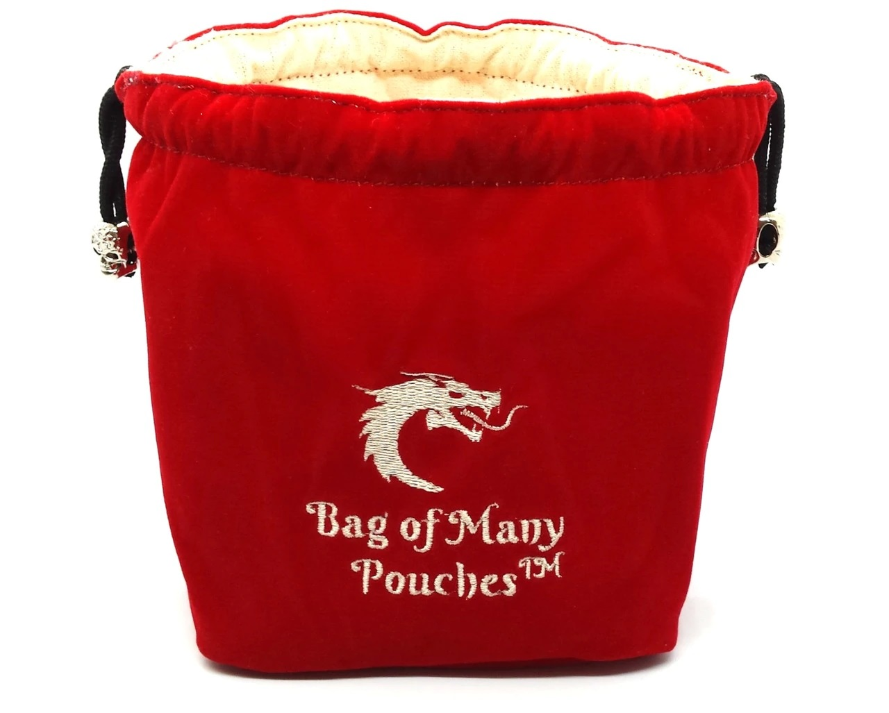 Old School Dice: Bag of Many Pouches - Red