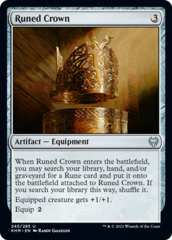 Runed Crown - Foil
