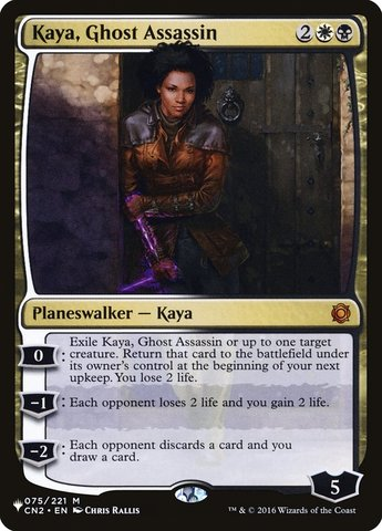 Kaya, Ghost Assassin - The List