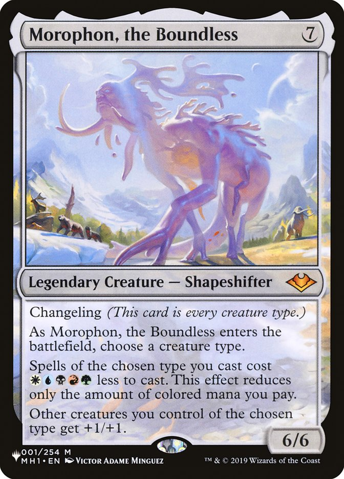 Morophon, the Boundless - The List