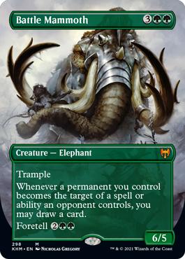 (298) Battle Mammoth - FOIL - BORDERLESS