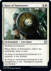Rune of Sustenance - Foil
