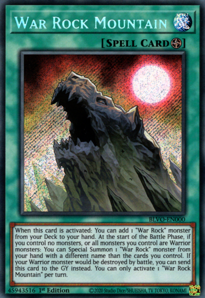 War Rock Mountain - BLVO-EN000 - Secret Rare - 1st Edition