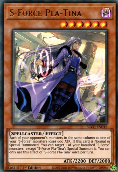 S-Force Pla-Tina - BLVO-EN015 - Ultra Rare - 1st Edition