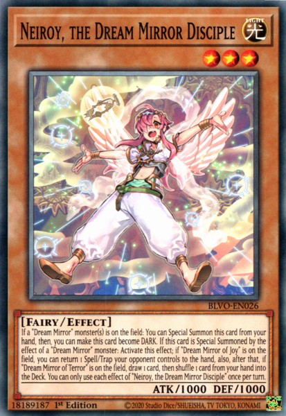 Neiroy, the Dream Mirror Disciple - BLVO-EN026 - Common - 1st Edition