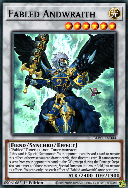 Fabled Andwraith - BLVO-EN044 - Super Rare - 1st Edition