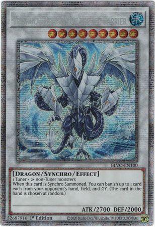 Trishula, Dragon of the Ice Barrier - BLVO-EN100 - Starlight Rare - 1st Edition