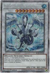 Trishula, Dragon of the Ice Barrier - BLVO-EN100 - Starlight Rare - 1st Edition