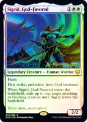 Sigrid, God-Favored - Foil - Prerelease Promo