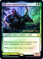 Jorn, God of Winter // Kaldring, the Rimestaff - Foil - Prerelease Promo