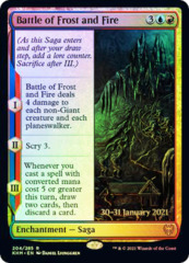 Battle of Frost and Fire - Foil - Prerelease Promo