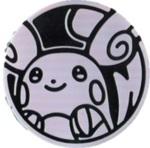 Alolan Raichu Collectible Coin - Silver Rainbow Holofoil (Generation 7)
