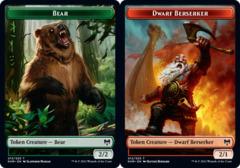 Bear Token // Dwarf Berserker Token - Foil