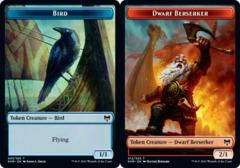 Bird Token // Dwarf Berserker Token - Foil