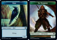 Bird Token // Elf Warrior Token - Foil