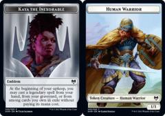 Emblem - Kaya the Inexorable // Human Warrior Token - Foil