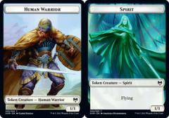 Human Warrior // Spirit Double-sided Token - Foil