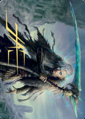 Egon, God of Death Art Card - Gold-Stamped Signature