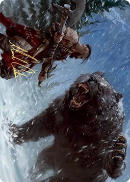 Blizzard Brawl Art Card - Gold-Stamped Signature