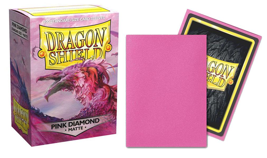 Dragon Shield Sleeves: Matte Pink Diamond (100 ct.) Standard