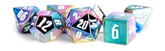 Aluminum-Plated Acrylic: Rainbow Aegis with White Numbers 7-Die Set 16mm